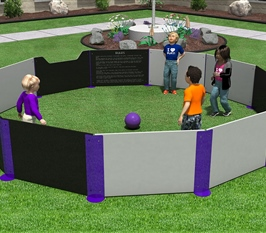 Gaga Ball Pit with Rules Panel